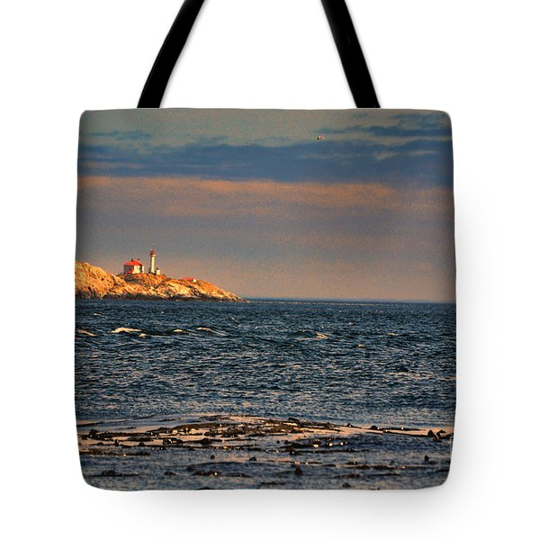 Sunset Over British Columbia Tote Bag