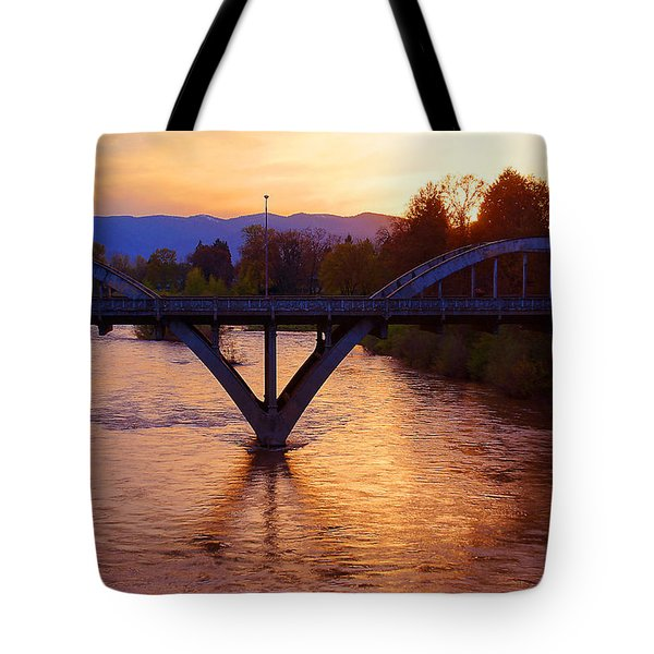 Sunset Over Caveman Bridge Tote Bag