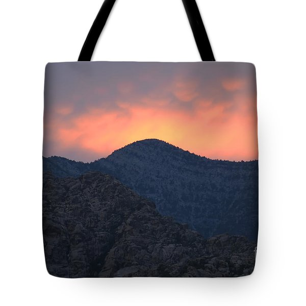 Sunset Over Red Rock Tote Bag