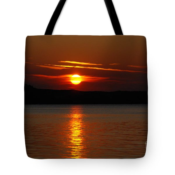 Sunset Over Silver Lake Sand Dunes Tote Bag by Grace Grogan