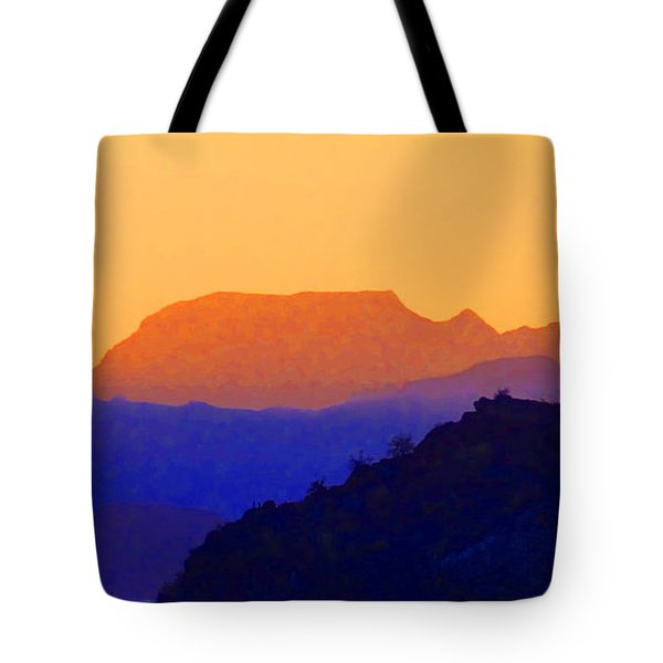 Sunset Over The Sierra Gigantes Tote Bag by Anne Mott