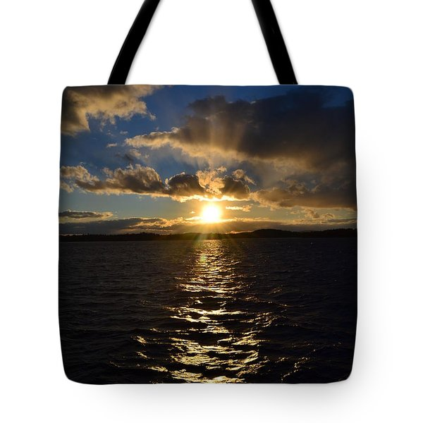 Sunset Over Winnepesaukee Tote Bag