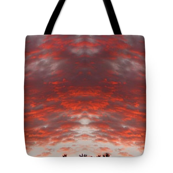 Sunset Panorama Psychedelic Trance Tote Bag by James BO  Insogna
