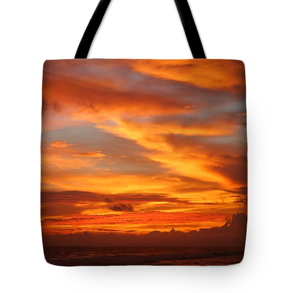 Sunset Playa Hermosa Costa Rica Tote Bag by Michelle Wiarda