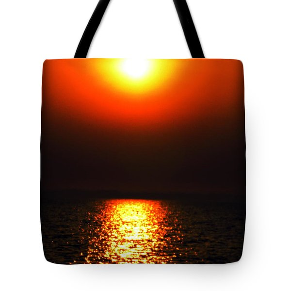 Tote Bag featuring the photograph sunset Santorini Greece by Colette V Hera  Guggenheim