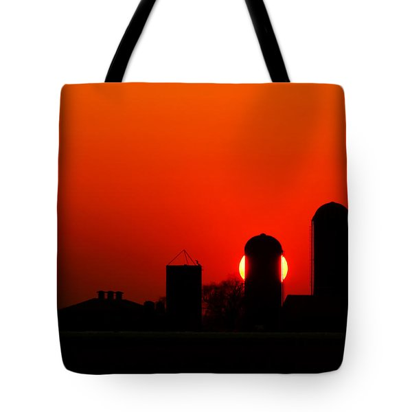 Sunset Silo Tote Bag by Cale Best