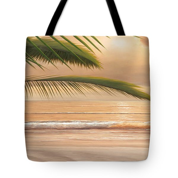 Sunset Surf Panoramic Tote Bag by Diane Romanello