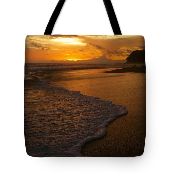 Sunset Surf Playa Hermosa Costa Rica Tote Bag by Michelle Wiarda