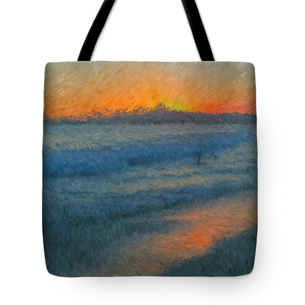 Sunset Surfers Tote Bag by Heidi Smith