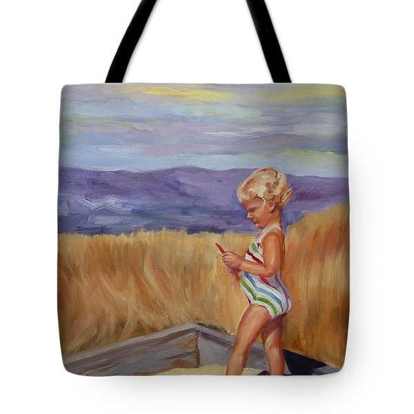 Tote Bag featuring the painting Sunshine And Shadows by Carol Berning