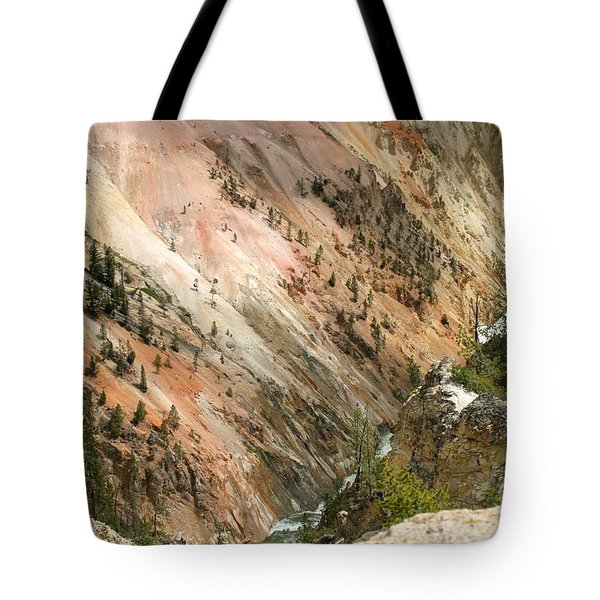 Sunshine On Grand Canyon In Yellowstone Tote Bag by Living Color Photography Lorraine Lynch
