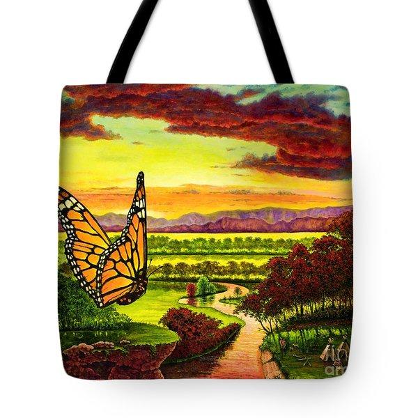 Sunshine Traveler-monarch Tote Bag