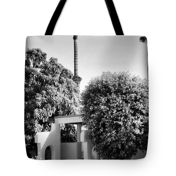 Suntan Lane Palm Springs Tote Bag by William Dey