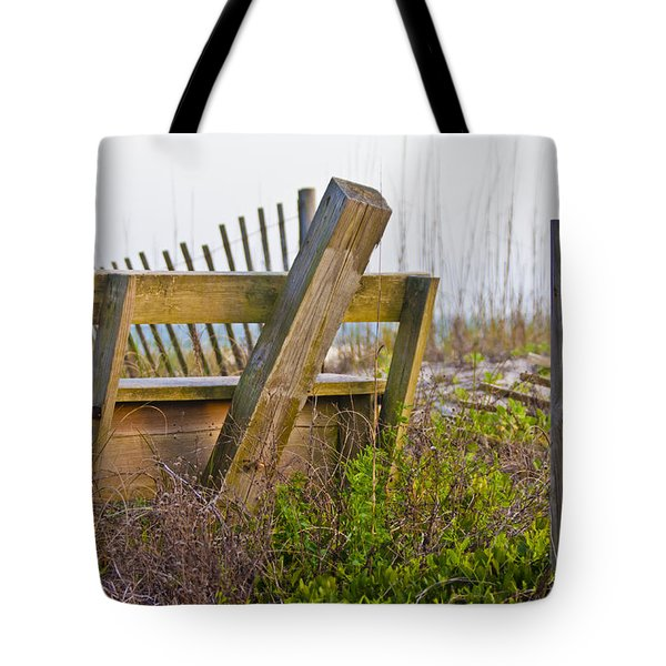 Surf City Chair Tote Bag by Betsy Knapp