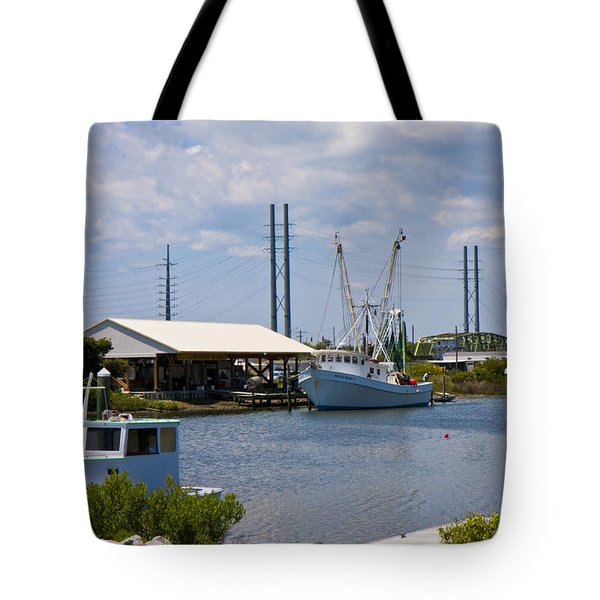 Surf City View Tote Bag by Betsy Knapp