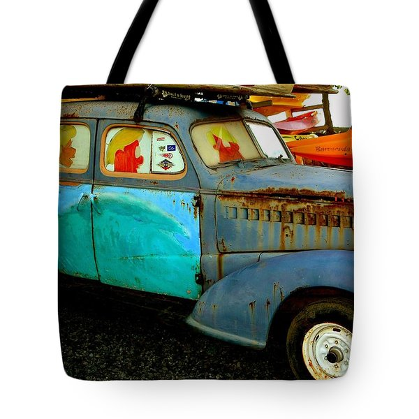 Surf Mobile Tote Bag