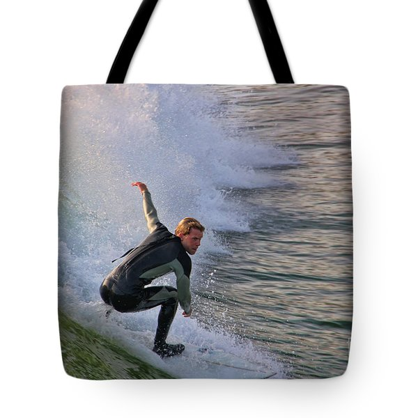 Surfin' The Wave Tote Bag by Mariola Bitner