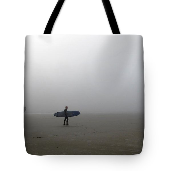 Surfing Into The Abyss Tote Bag