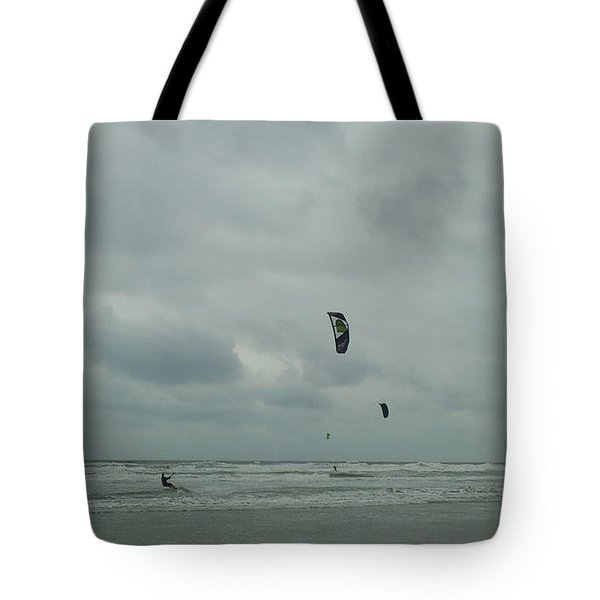Tote Bag featuring the photograph Surfing The Wind by Donna Brown