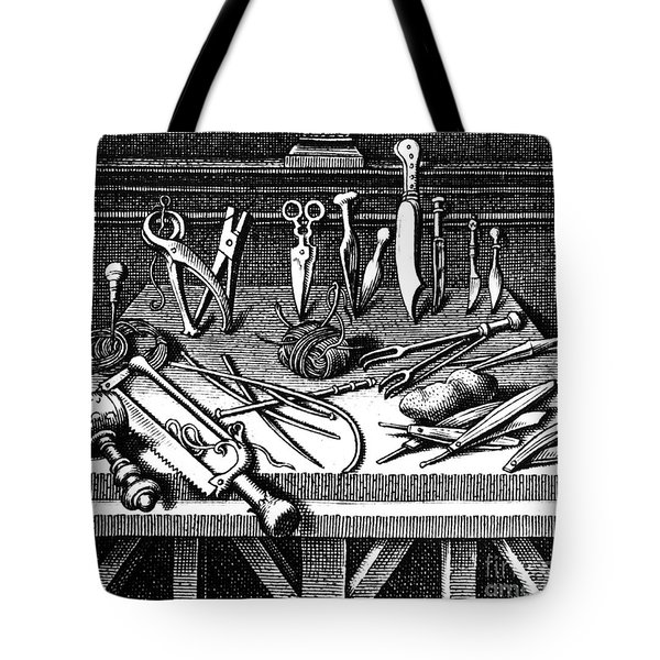 Surgical Equipment, 16th Century Tote Bag by Science Source