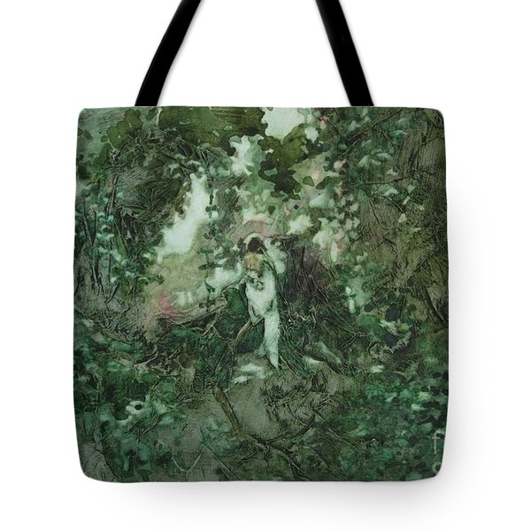 Surprised Bather Tote Bag