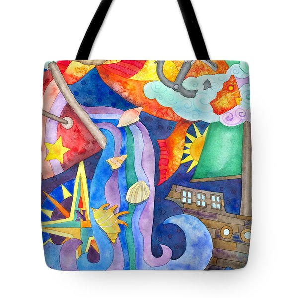 Surreal Seascape Tote Bag