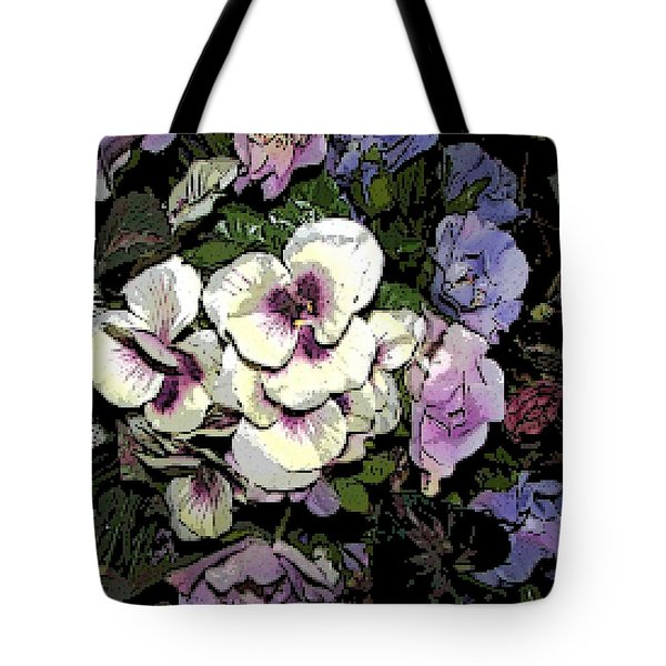 Surrounding Pansies Tote Bag