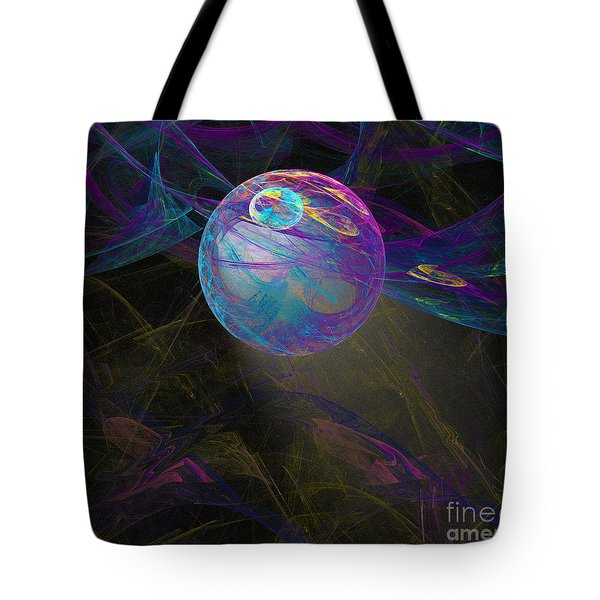 Tote Bag featuring the digital art Suspension by Victoria Harrington