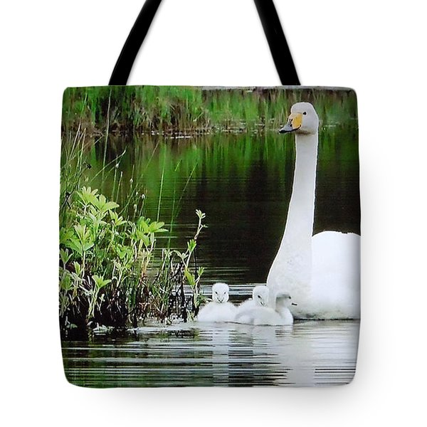 Swan Family Late Summer Tote Bag by Colette V Hera  Guggenheim