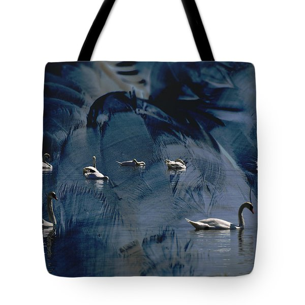 Swan Feather Tote Bag by Michael Mogensen