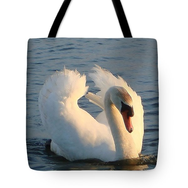 Tote Bag featuring the photograph Swan by Katy Mei