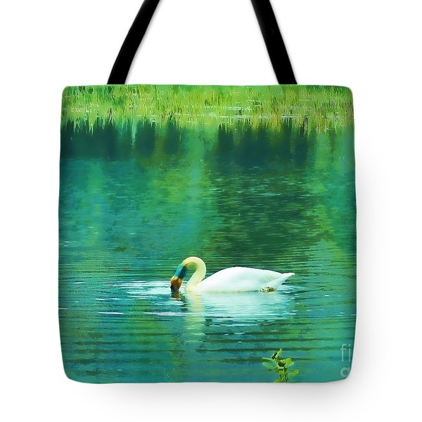 Swan Lake Tote Bag by Judi Bagwell
