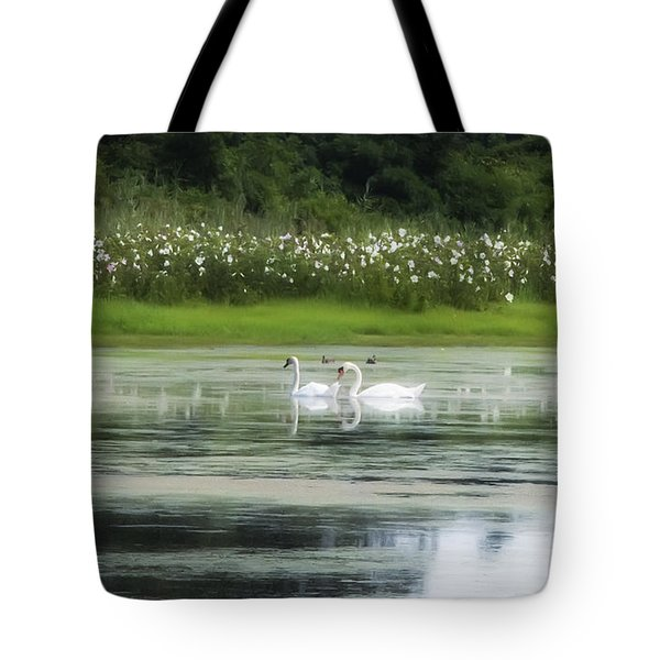 Swan Pond Tote Bag by Bill Cannon