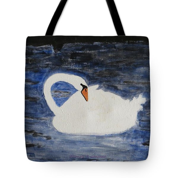 Tote Bag featuring the painting Swan  by Sonali Gangane