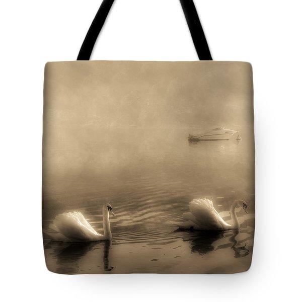 Swans Tote Bag by Joana Kruse