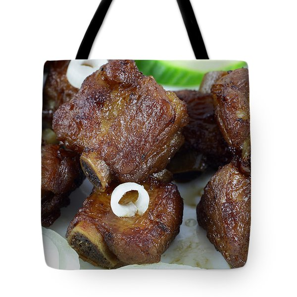 Sweet And Sour Ribs Chinese Food  Tote Bag by Paul Ge
