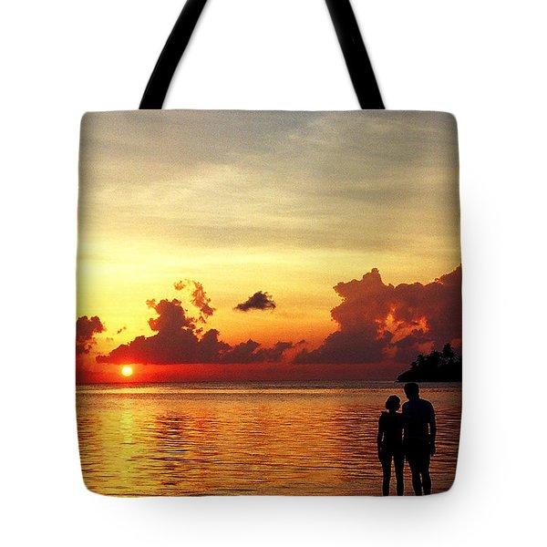 Sweet Golden Memory. Maldives Tote Bag by Jenny Rainbow