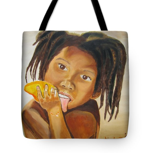 Sweet Mango Tote Bag by Jennylynd James
