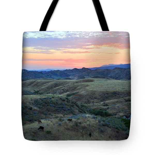 Sweet So Cal Sunset Tote Bag by Lynn Bauer