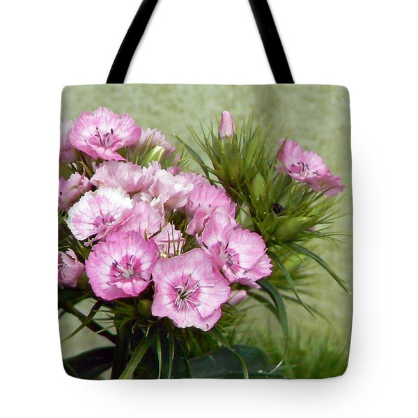 Sweet Sweet Williams Tote Bag by Pamela Patch