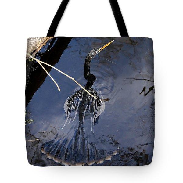 Swimming Bird Tote Bag