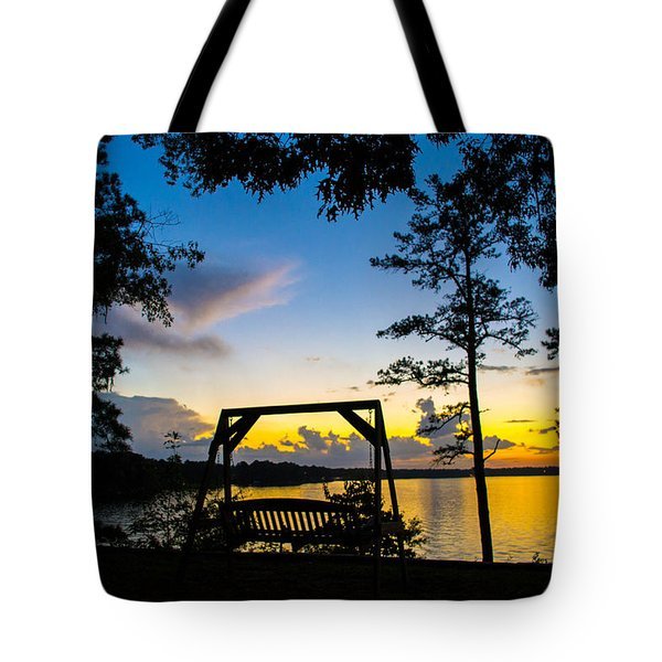 Swing Silhouette  Tote Bag