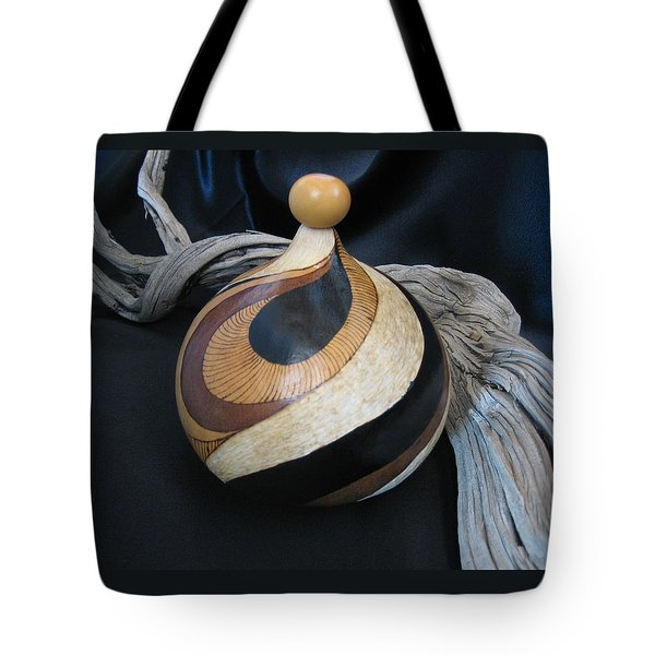 Swirl Gourd 2 #gn30 Tote Bag by Barbara Prestridge