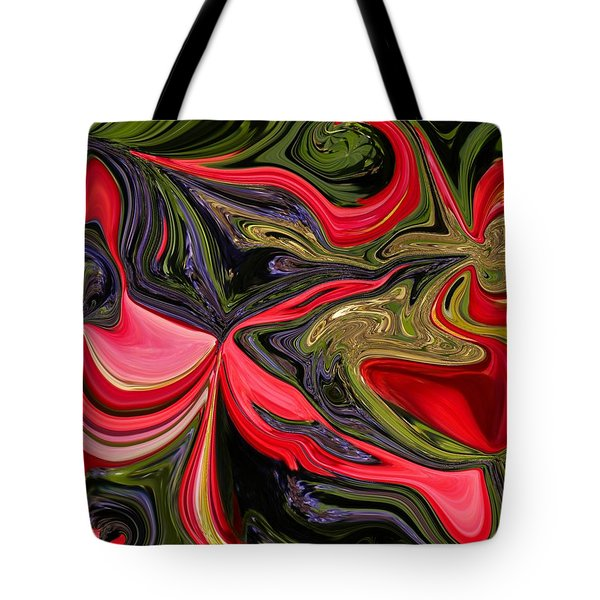 Swirled Garden 1 Tote Bag by Renate Nadi Wesley