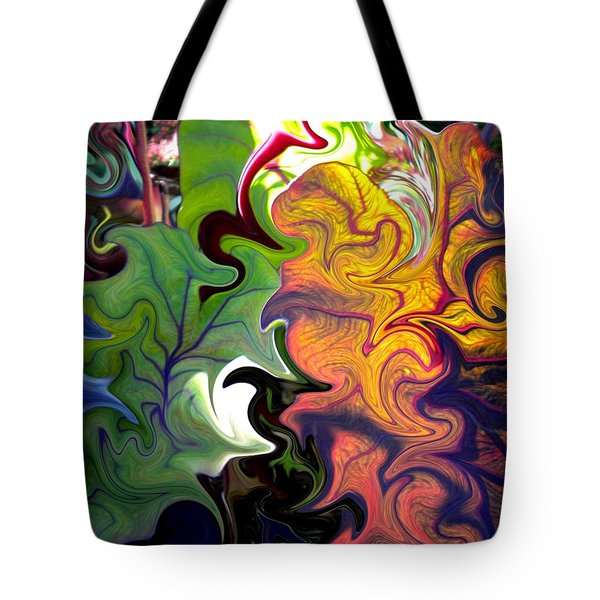 Swirled Leaves Tote Bag by Renate Nadi Wesley
