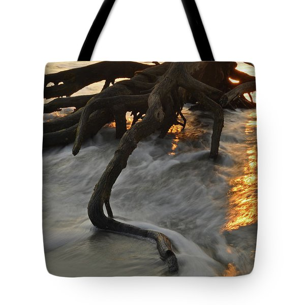 Swirling Sunrise On Jekyll Island Tote Bag