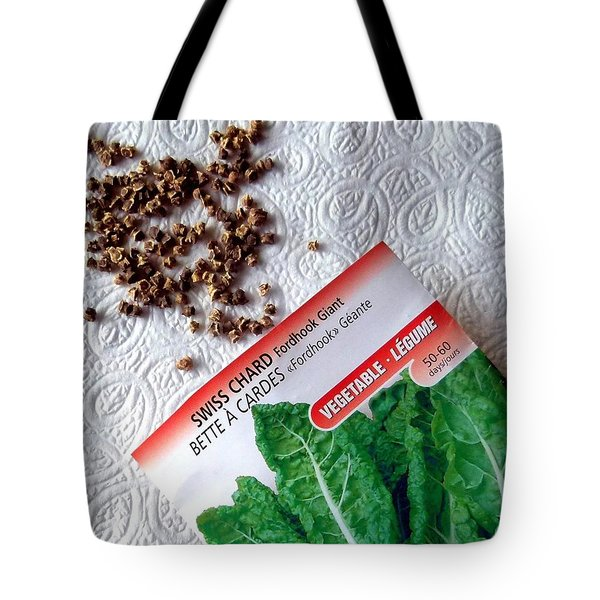 Swiss Chard Seeds Tote Bag by Will Borden