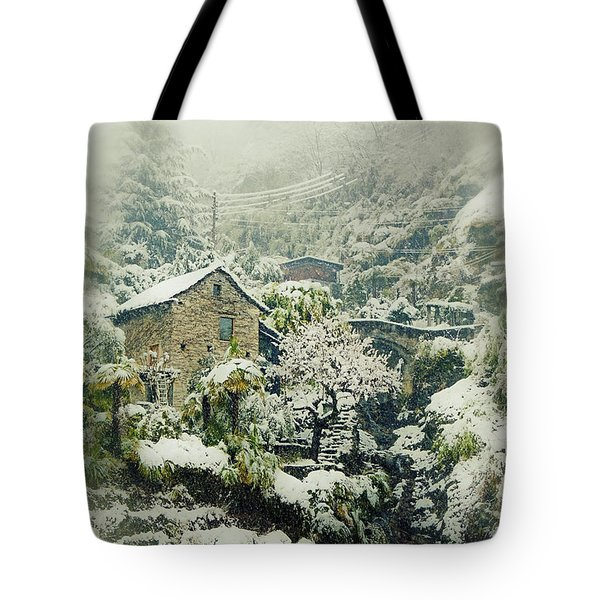 Switzerland In Winter Tote Bag by Joana Kruse