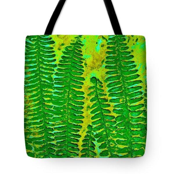 Sword Fern Fossil-green Tote Bag