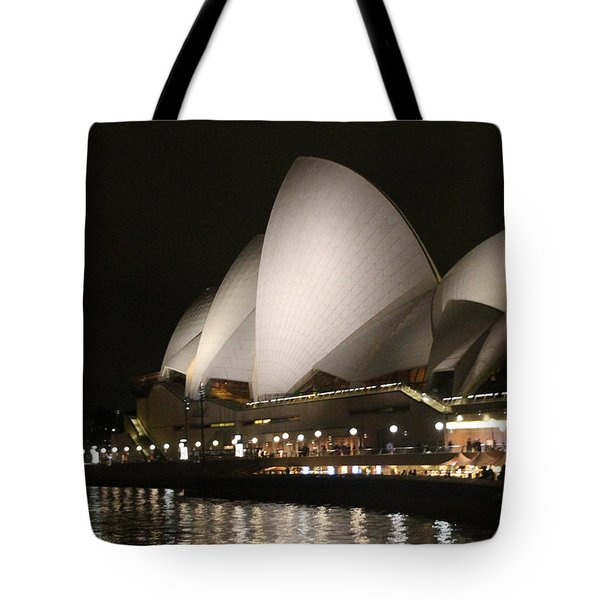 Tote Bag featuring the photograph Sydney Opera House At Night by Laurel Talabere